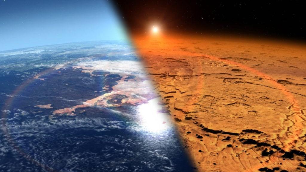 Марс в прошлом и сейчас
