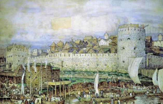 Московский Кремль XIV века