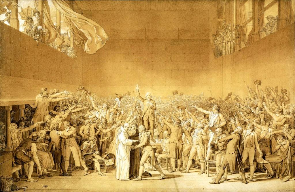 Жак-Луи Давид. «Клятва в зале для игры в мяч» (1791)