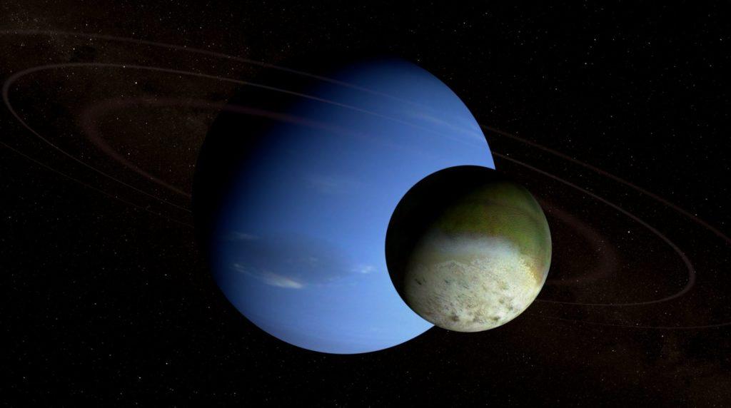 Изображение Нептуна и Тритона
