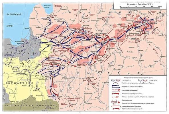 Наступление Наполеона в 1812