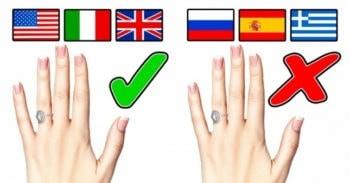 Европейские традиции ношения обручального кольца