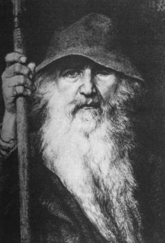 Один, путешественник. Георг фон Розен, 1886 Верховный бог, хозяин Вальхаллы, почитается как отец всех богов и людей