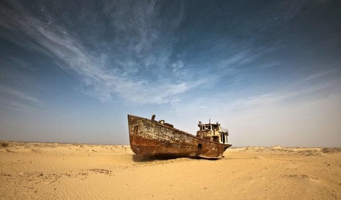 Почему обмелело Аральское море?