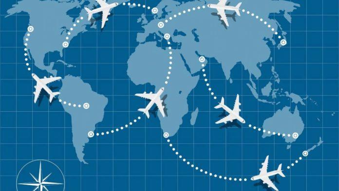 Почему рейсовые самолеты летают не по кратчайшей линии?