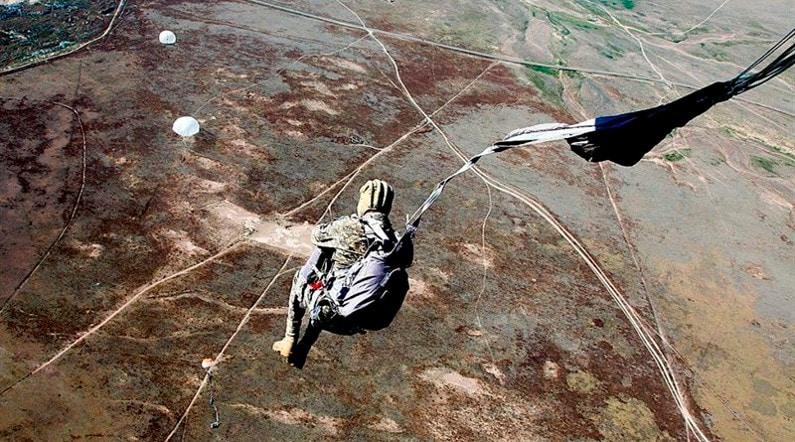 Подготовленный прыжок с парашютом