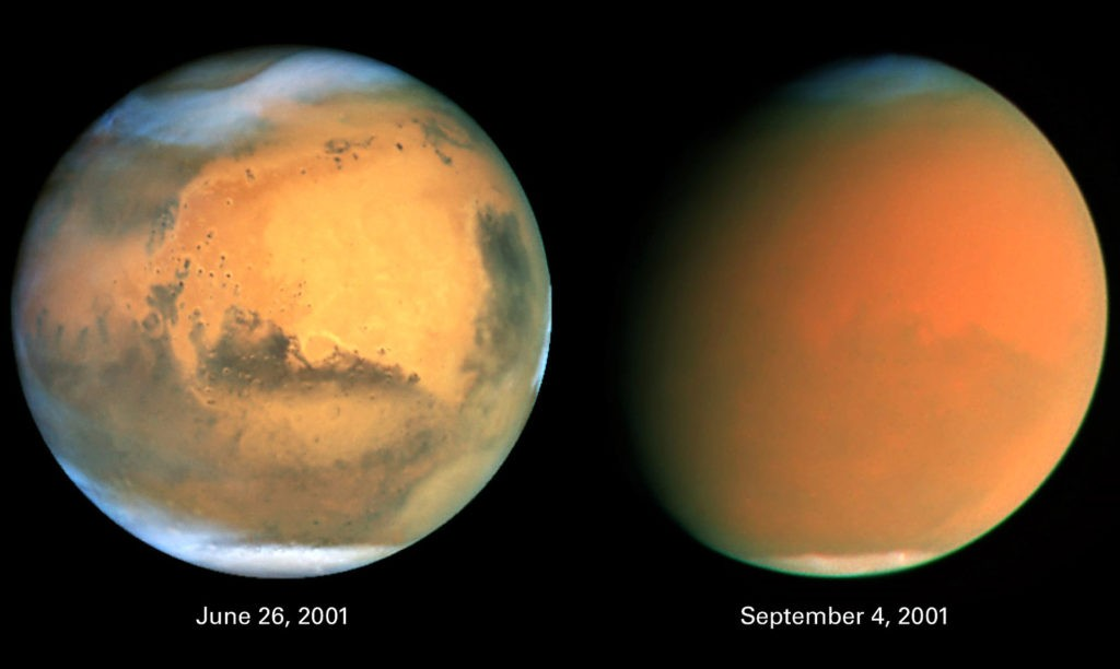 Глобальная пылевая буря на Марсе