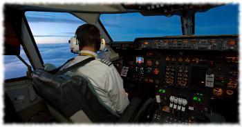 Пилот за работой