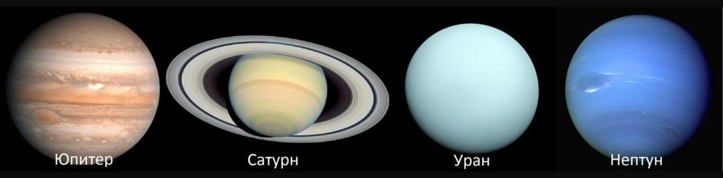 Планеты Солнечной системы - газовые гиганты