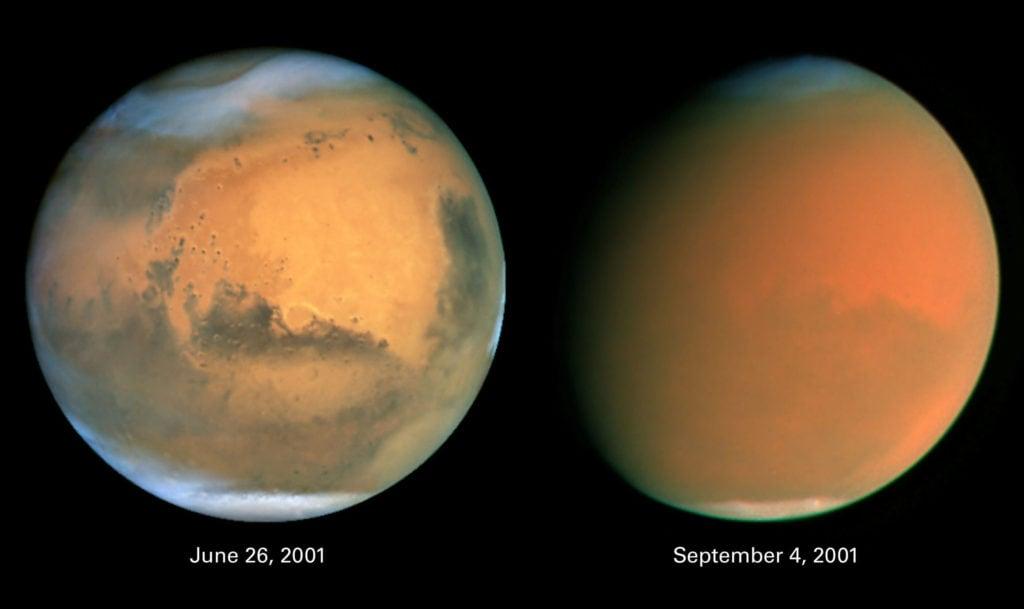 Ледяные полярные шапки на Марсе