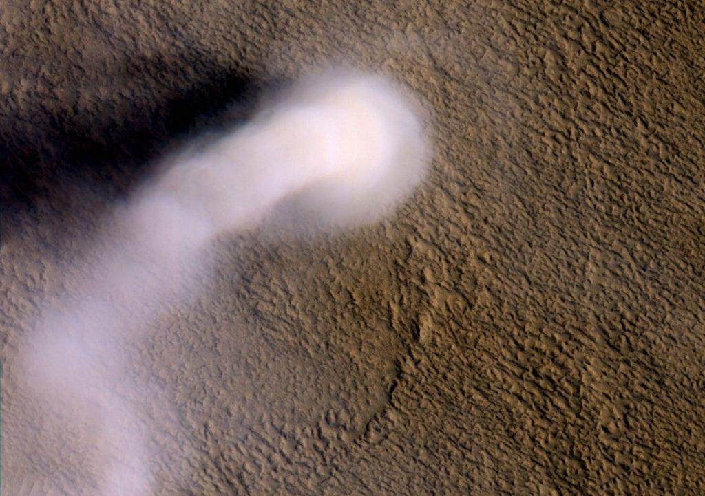 Пылевые смерчи на Марсе