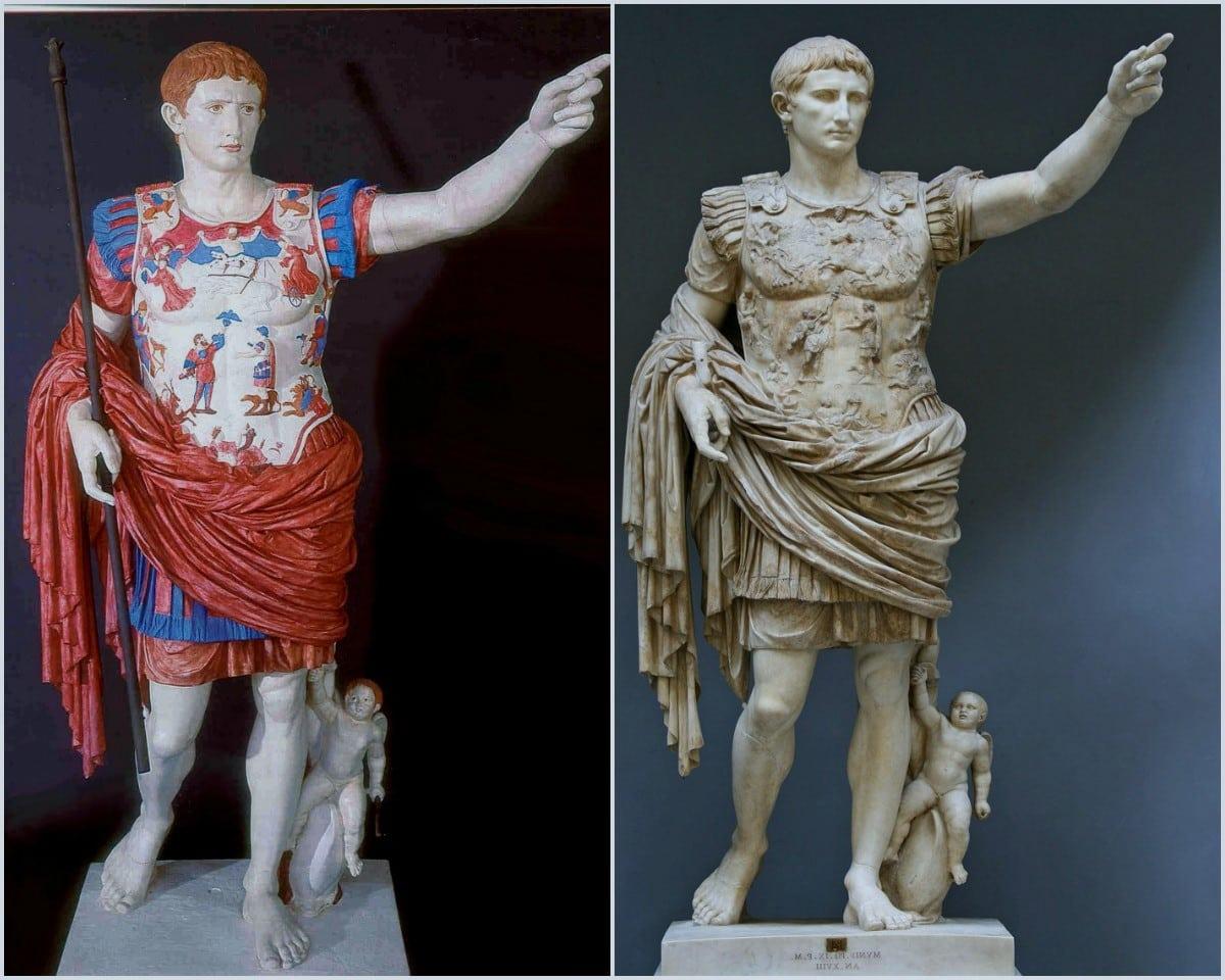 Пример реставрации скульптуры и нанесения красок