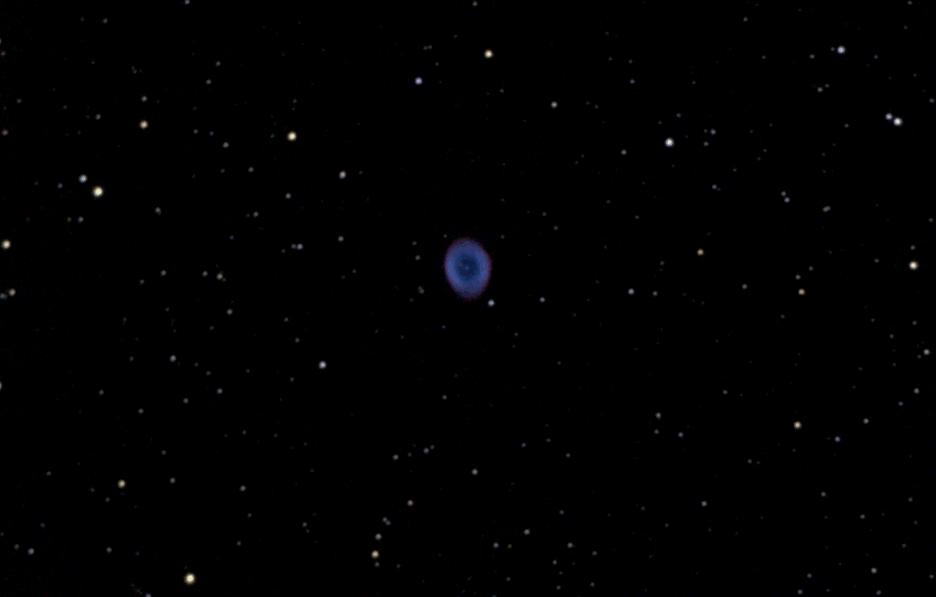 Пример наблюдения космических объектов в телескоп