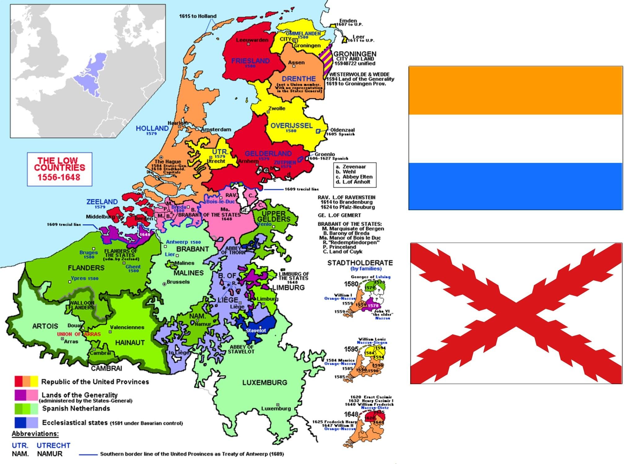 Независимое объединение Семнадцать провинций и первый триколор