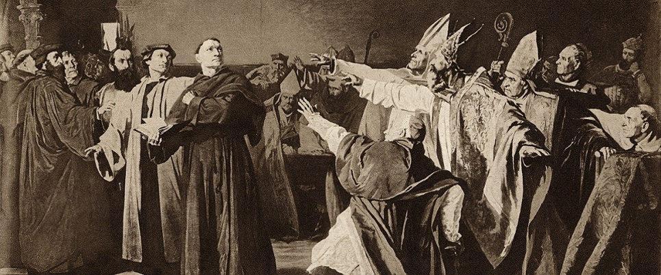 Лютер в Вормсе 17 апреля 1521 г. 1888