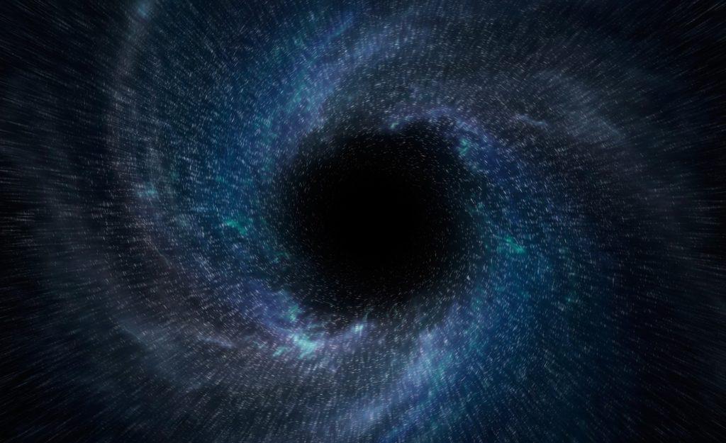 Один из вариантов изображения первичной черной дыры