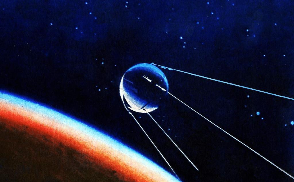 Рисунок ПС-1 над планетой