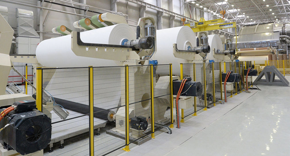 Производство бумаги в наше время