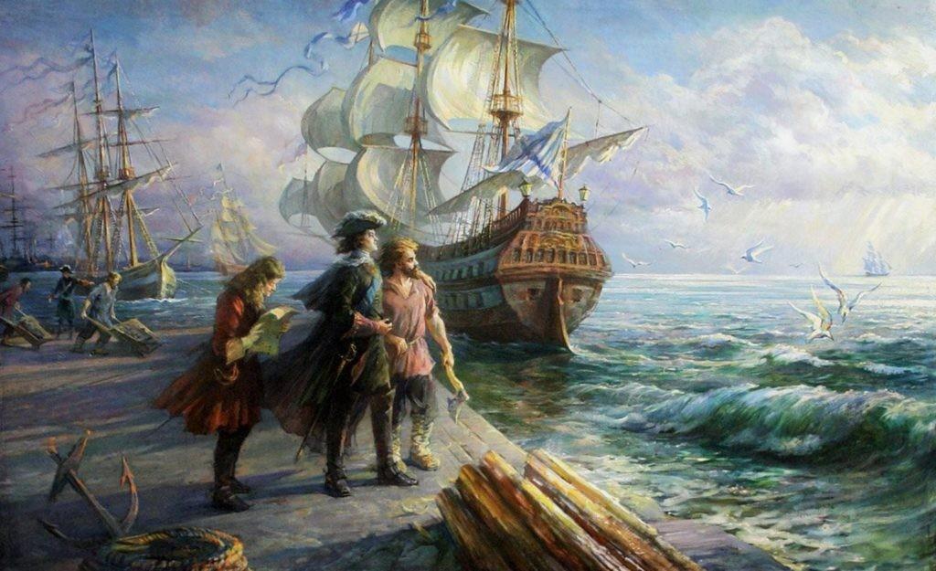 Петр I у Черного моря