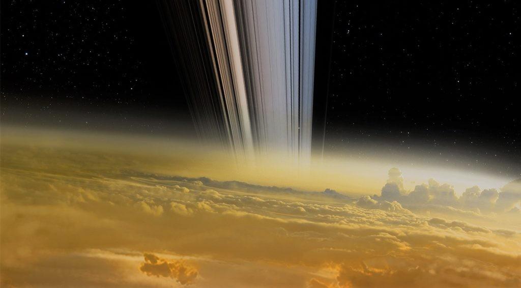 Изображение поверхности Сатурна