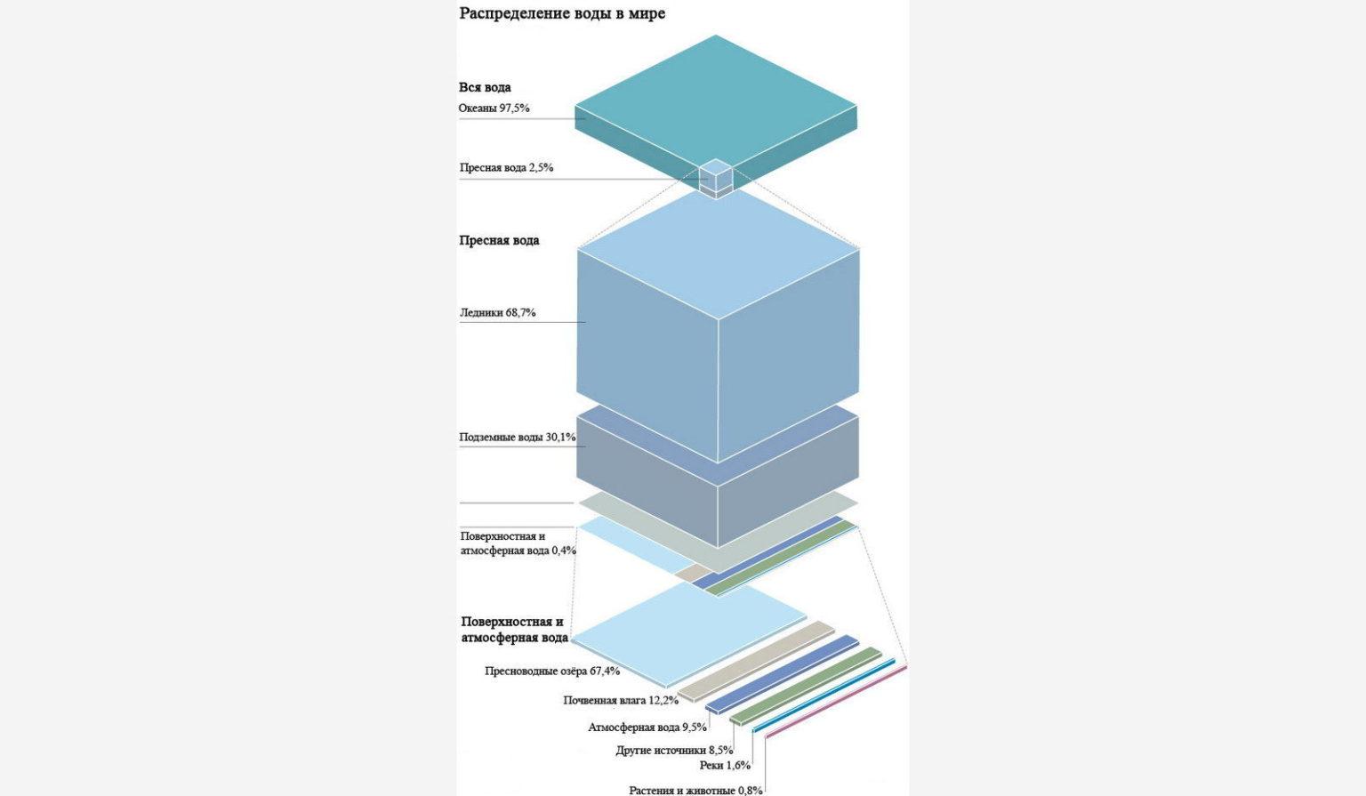 сколько процентов площади занимает мировой океан