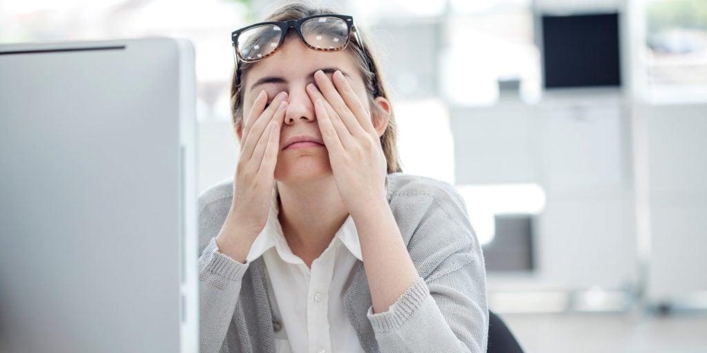 Работа с повышенной нагрузкой на глаза