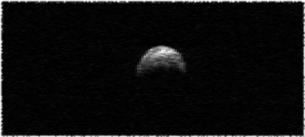 Радарное изображение астероида 2005 YU55
