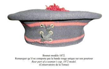 Рабочий головной убор французских моряков образца 1871 г.