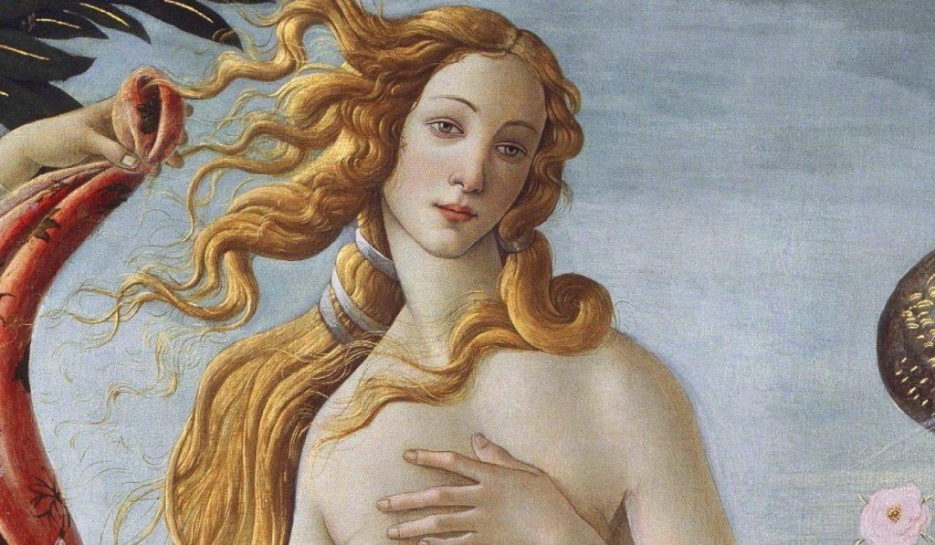 """Венера на картине Сандро Боттичелли """"Рождение Венеры"""""""