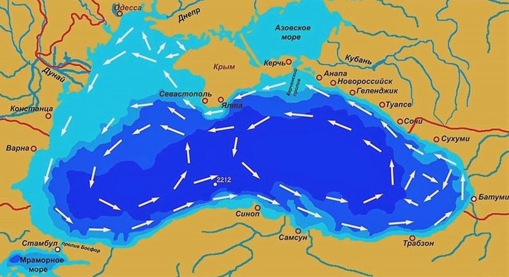 Карта рек Черного моря
