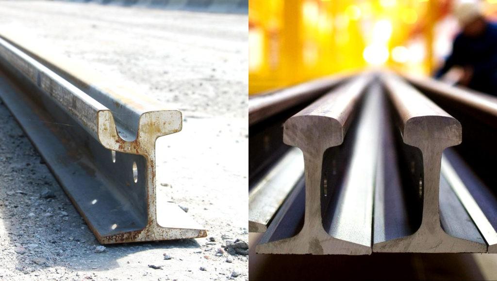 Сравнение трамвайного и железнодорожного рельсов