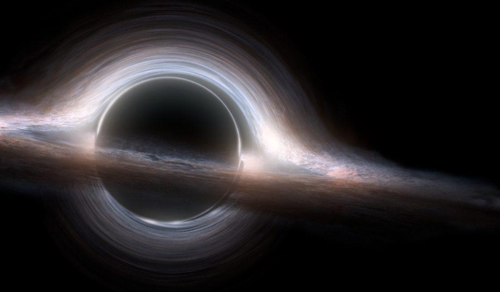 Рендер изображения черной дыры