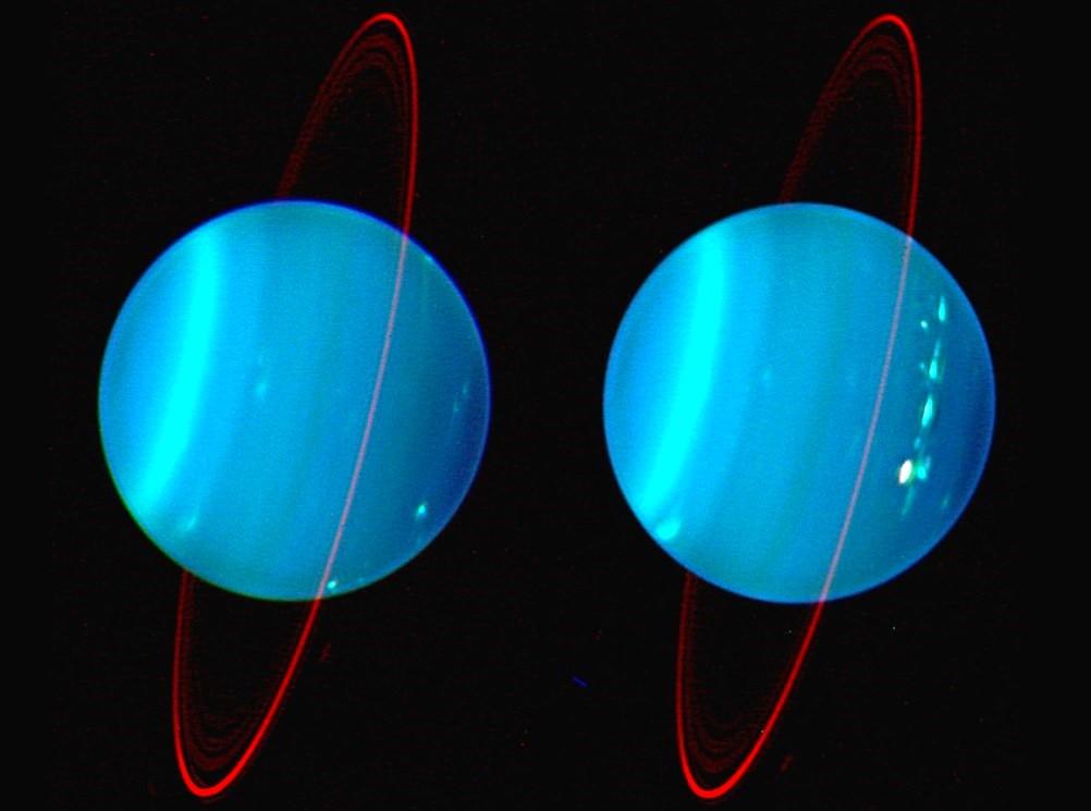 Демонстрация наклона планеты Уран