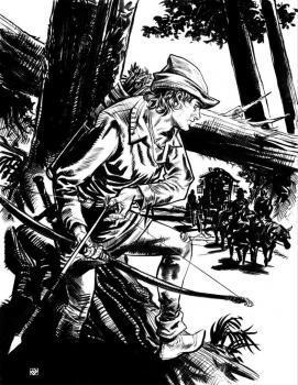 Робин Гуд - книжная иллюстрация