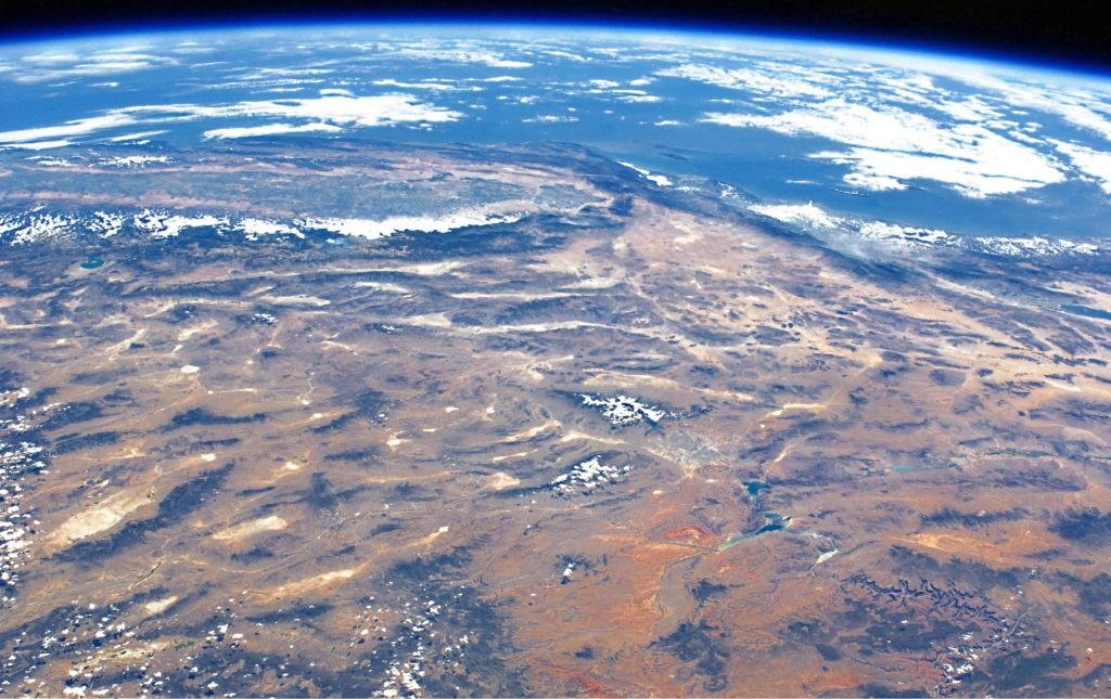 Фото суши из космоса (штат Аризона)
