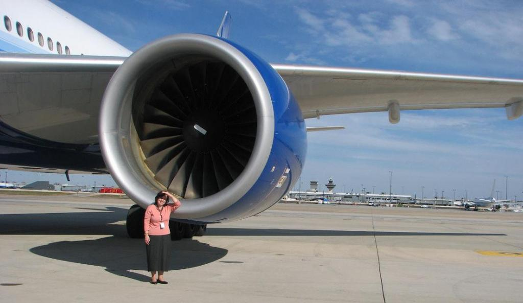 Турбина пассажирского самолета