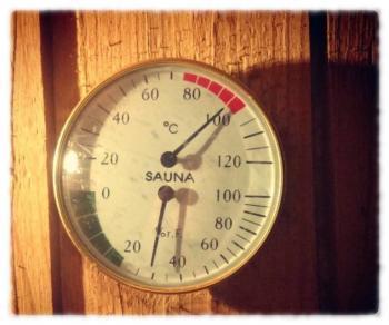 Термометр в сауне