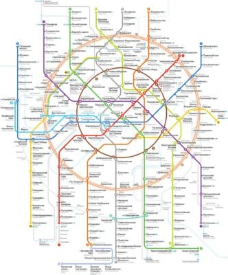 Схема Московского метрополитена