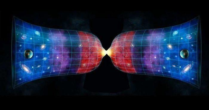 Пример большого сжатия и рождения новой Вселенной