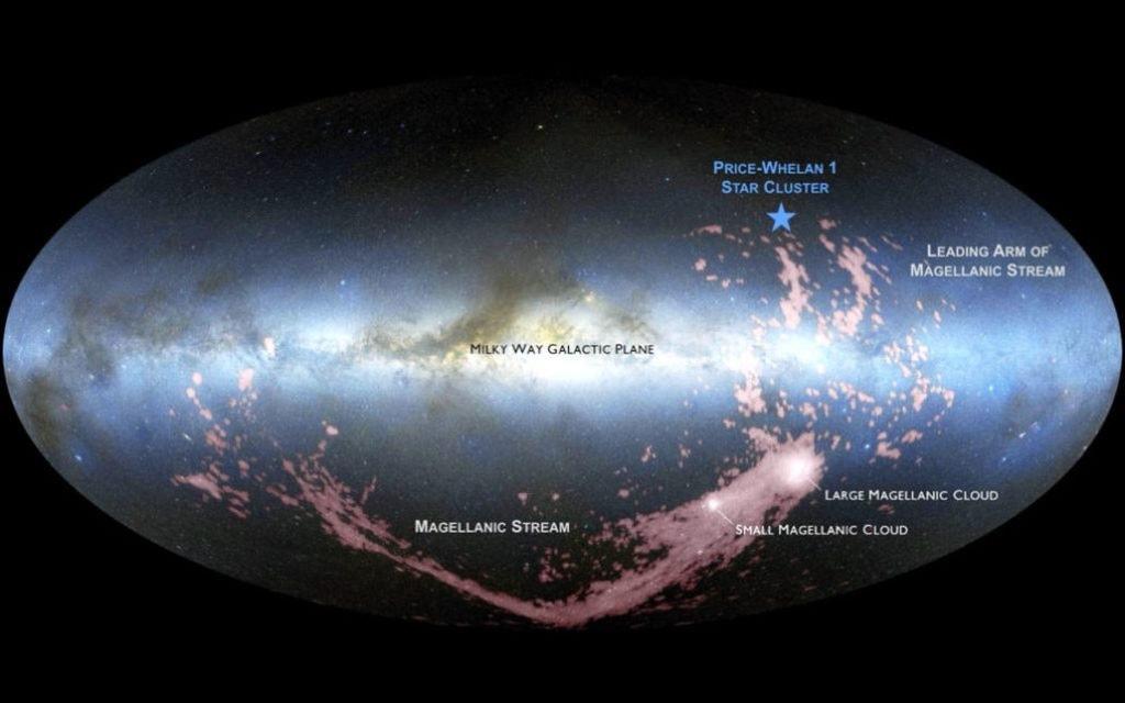 Скопление Price-Whelan 1 и питающий его газ «Магелланова потока» / ©David Nidever, NASA