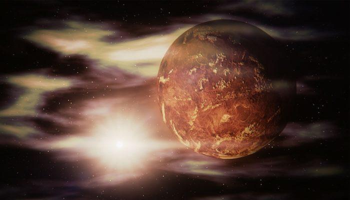 Венера под действием солнечного ветра