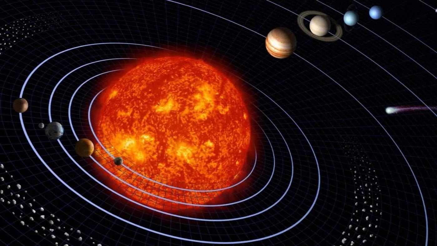 Солнце, планеты и гравитация