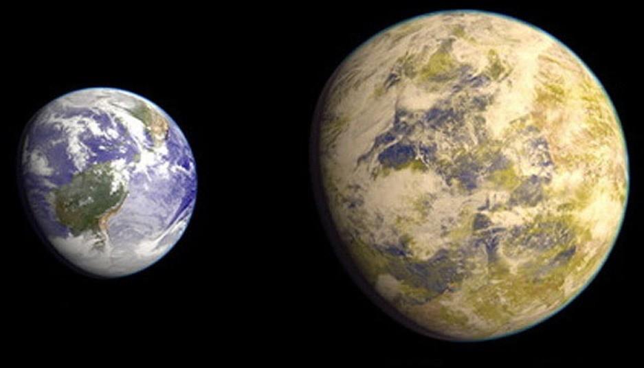 Сравнение размеров Земли и Gliese 832 c, относящейся к суперземлям