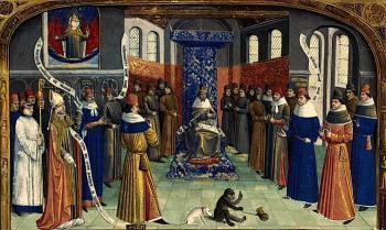 Средневековый королевский двор