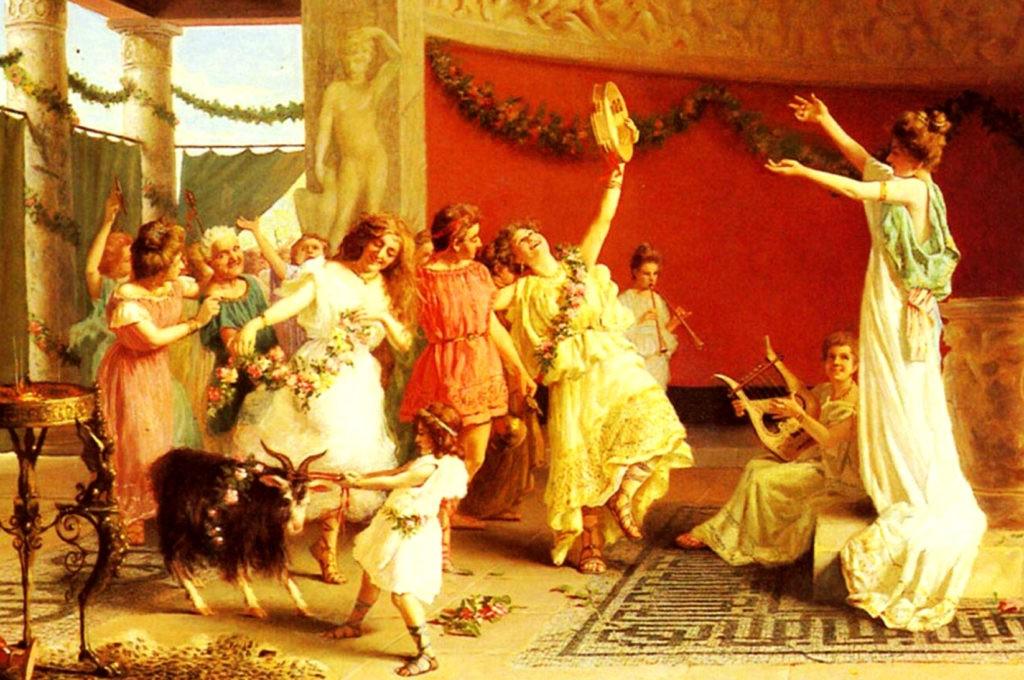 Сатурналии - зимний праздник у древних римлян, который тоже перекликается с европейским Рождеством и Новым годом. Символизировал окончание земледельческих работ