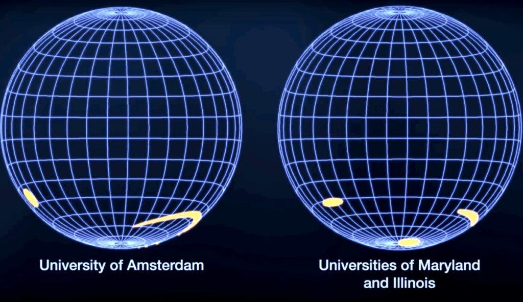 Карты J0030, полученные астрофизиками / ©NASA's Goddard Space Flight Center