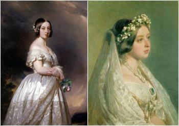 Венценосная особа в свадебном платье