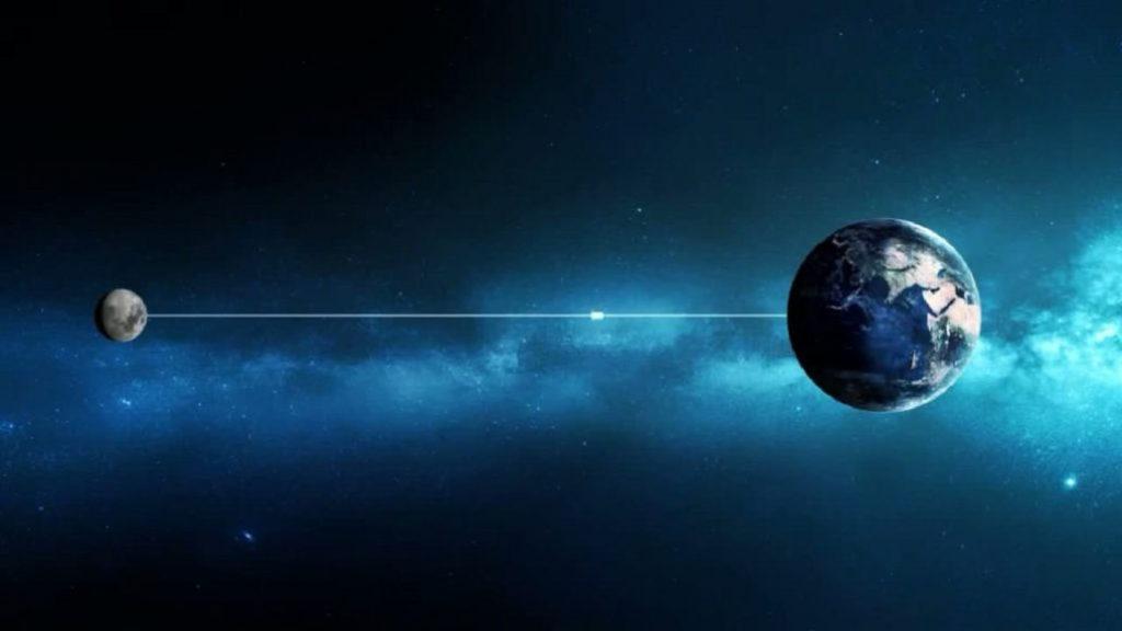 Свет от Луны до Земли