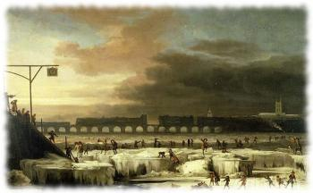 Ярмарка на замерзшей Темзе