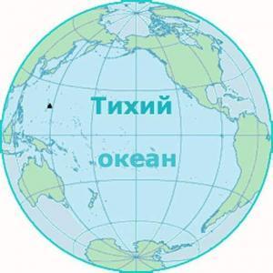 Тихий океан на карте мира